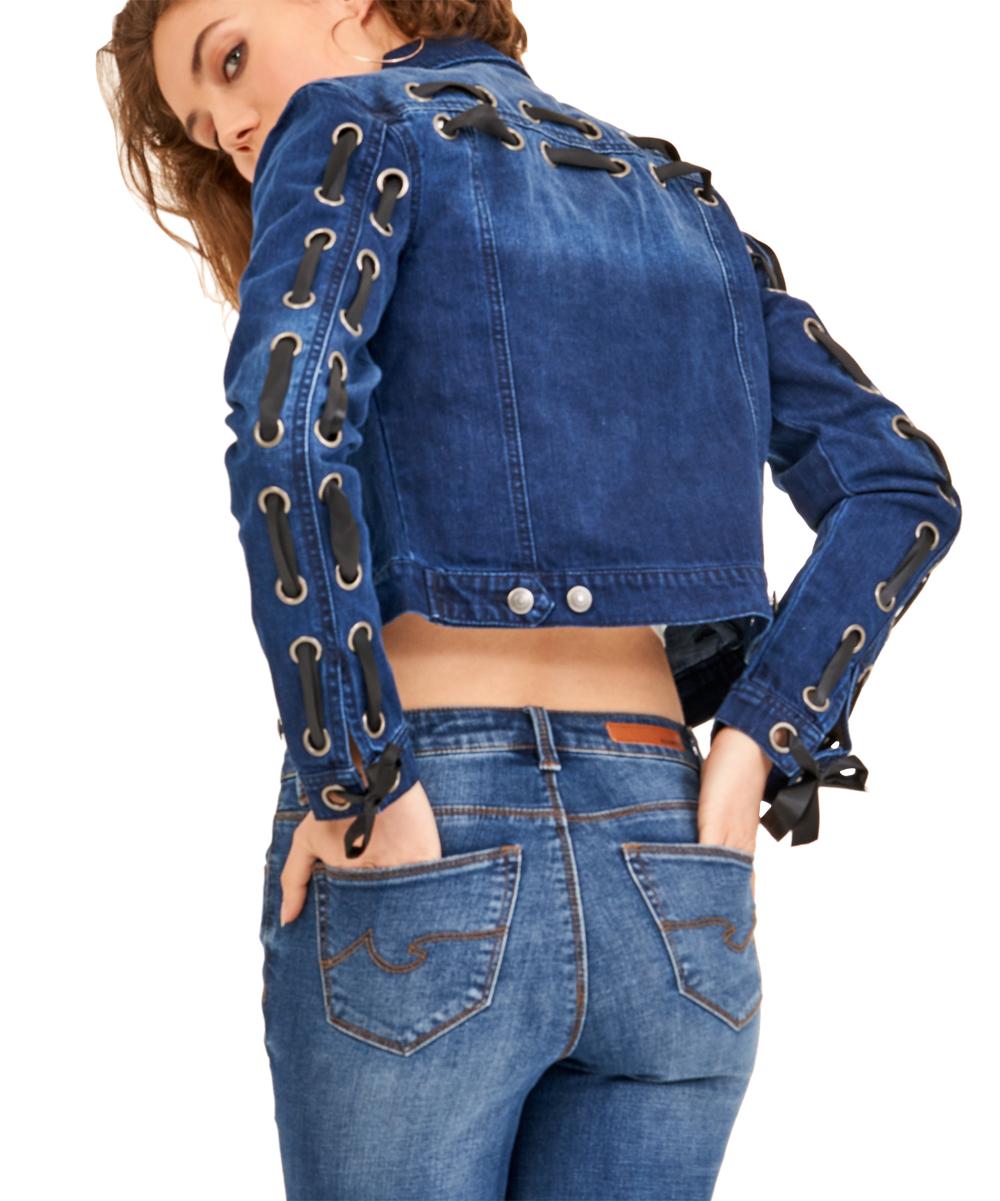 cd77b545f32 Blue Revival Black Satin Lace Up Back Alex Jacket - Women   Zulily