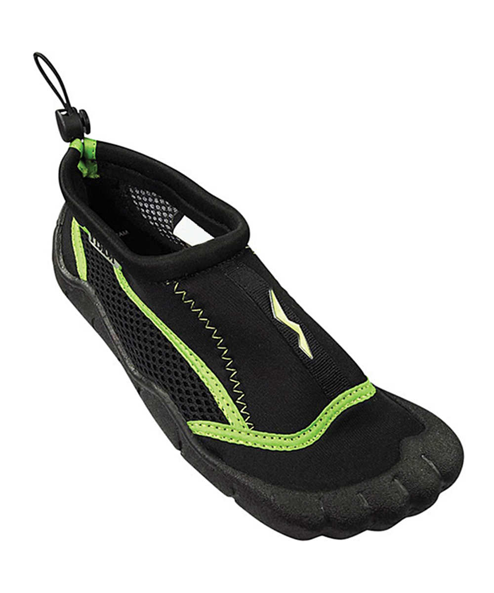 Norty Boys' Water shoes BK - Black & Lime Water Shoe - Boys