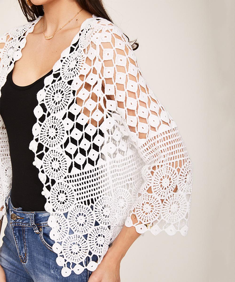 Keepkool White Crochet Cardigan Women Zulily