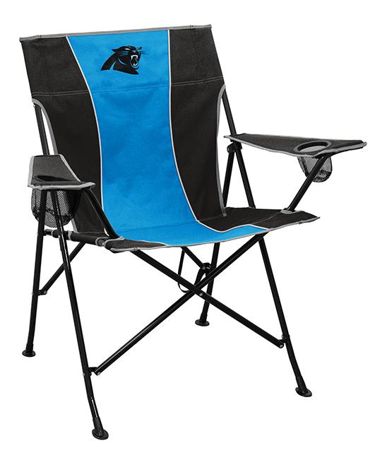 Logo Brands  Camp Furniture Black - Carolina Panthers Pregame Folding Chair