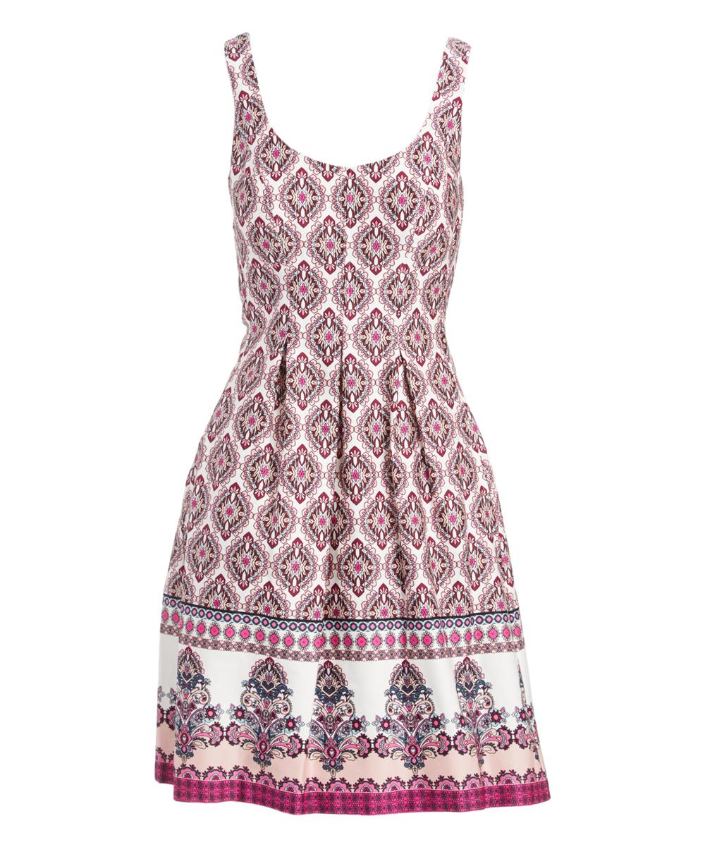 29c60008c2 Nine West Pink Arabesque Fit & Flare Dress - Women   Zulily