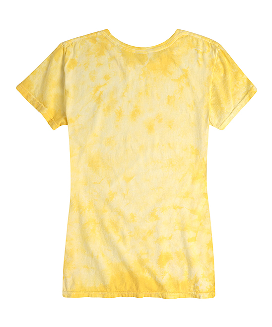 d121d9e8b ... Womens PALE YELLOW TIE DYE Yellow Tie-Dye 'Save The Queen' Bee Relaxed