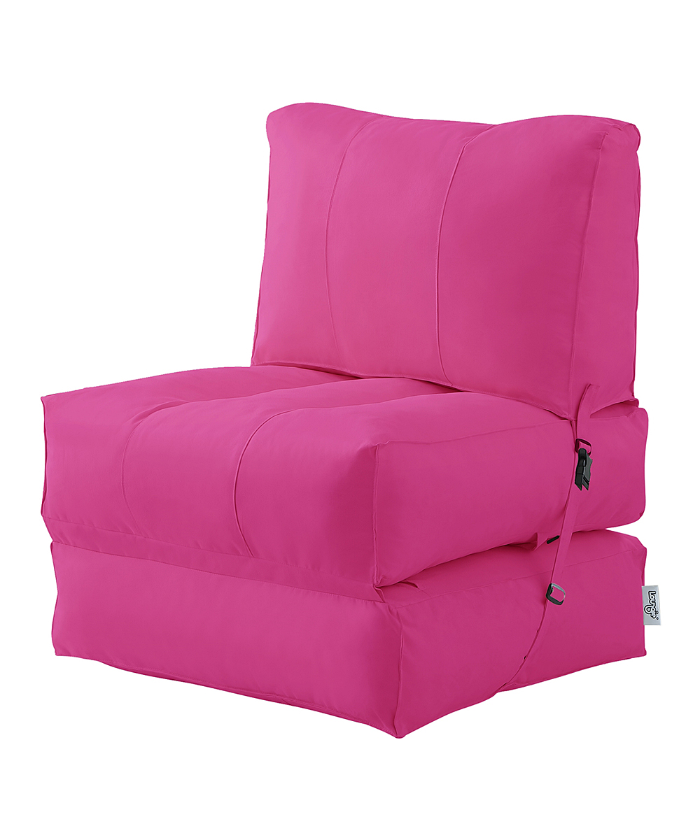 Incredible Loungie Fuchsia Cloudy Convertible Indoor Outdoor Beanbag Chair Ncnpc Chair Design For Home Ncnpcorg