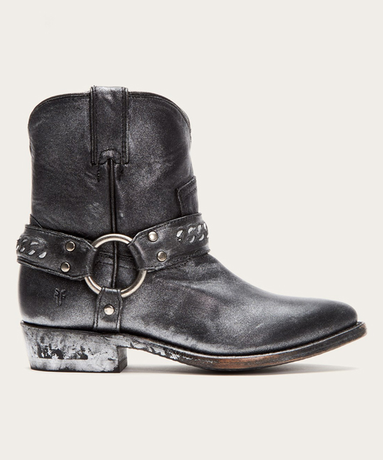 60d307495ef all gone. Black Metallic Billy Chain Leather Short Cowboy Boot - Women · Womens  BLACK MULTI Black ...