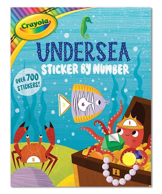 Marine Life Crayola Undersea Sticker By Number Children S