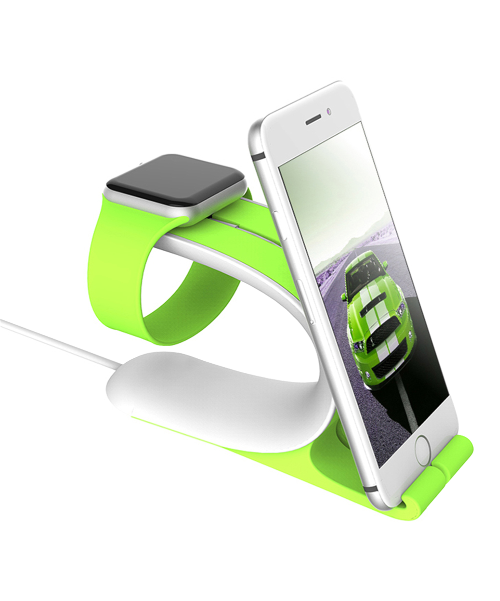 Green Mobile Phone & Watch Two-In-One Bracket