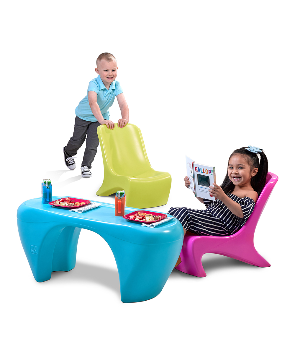 Step2  Indoor Table Chair Sets  - Junior Chic Three-Piece Furniture Set