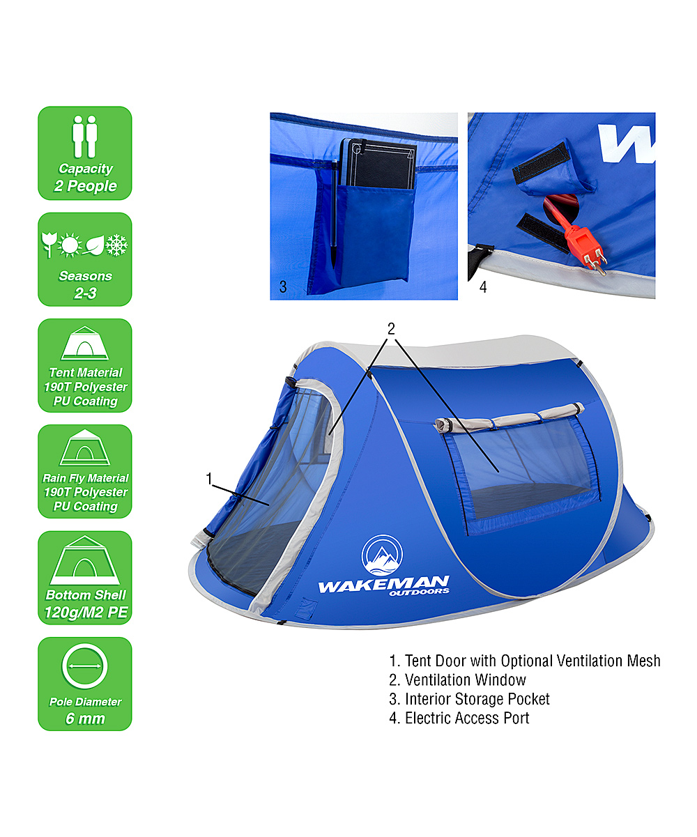 95b21862c Sunchaser Pop-up Tent 2 Person By Wakeman Outdoors