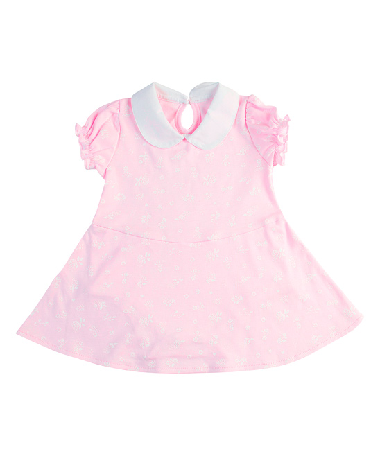 Pink & White Floral Francis Pima Cotton Bodysuit - Newborn & Infant