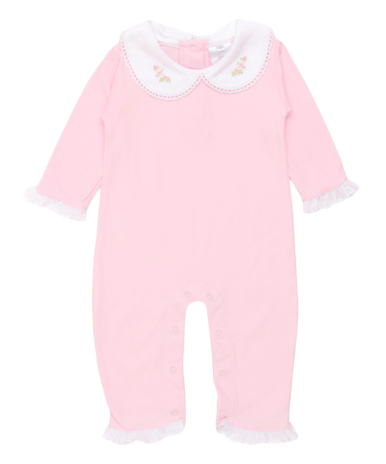 Pink Catania Pima Cotton Romper - Newborn & Infant