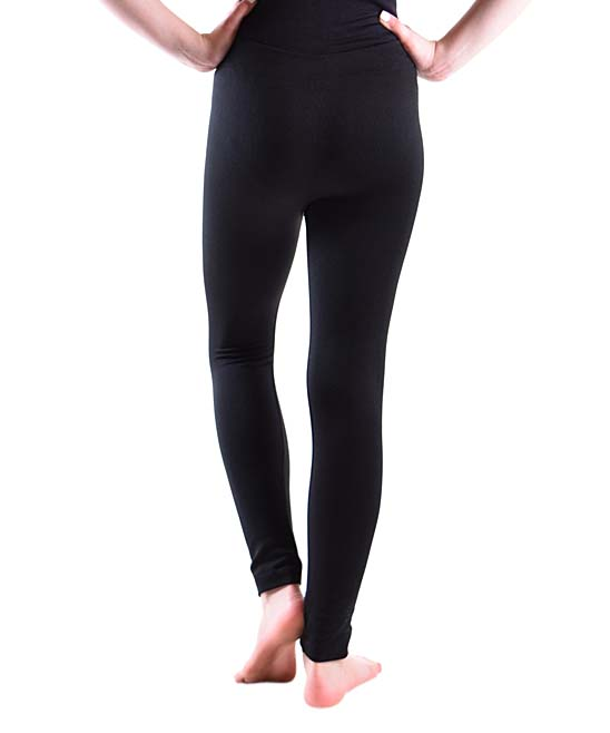 e522a7b8dd5aa2 Dinamit Jeans Black Fleece-Lined Leggings - Girls | Zulily