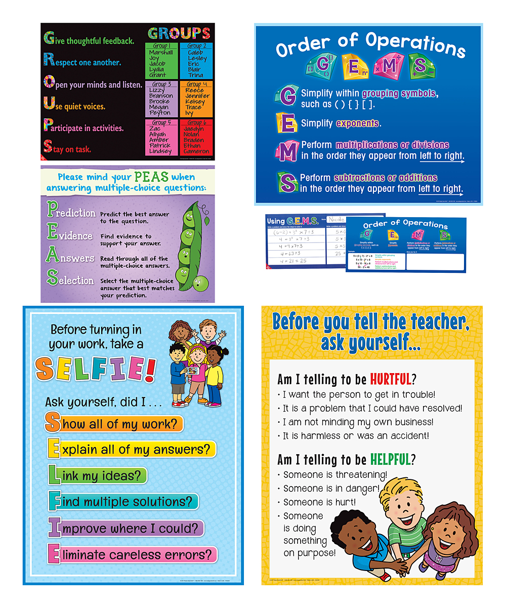 Really Good Stuff Classroom Poster - Set of Five