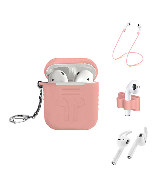 Pink Apple AirPods Five-Piece Accessory Set