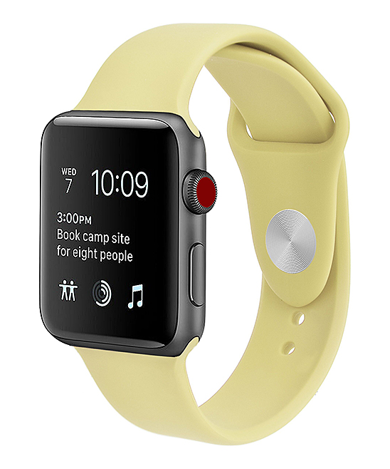 Prime Bands  Replacement Bands Mellow - Mellow Yellow Silicone Band Replacement for Apple Watch