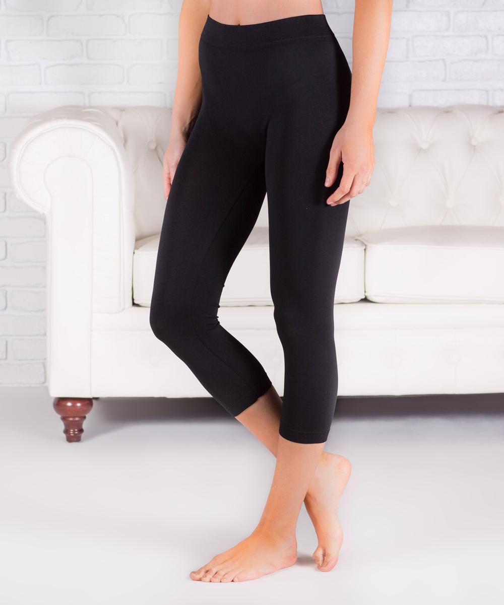 46e46db72de79a Contagious Black Crop Leggings - Women   Zulily