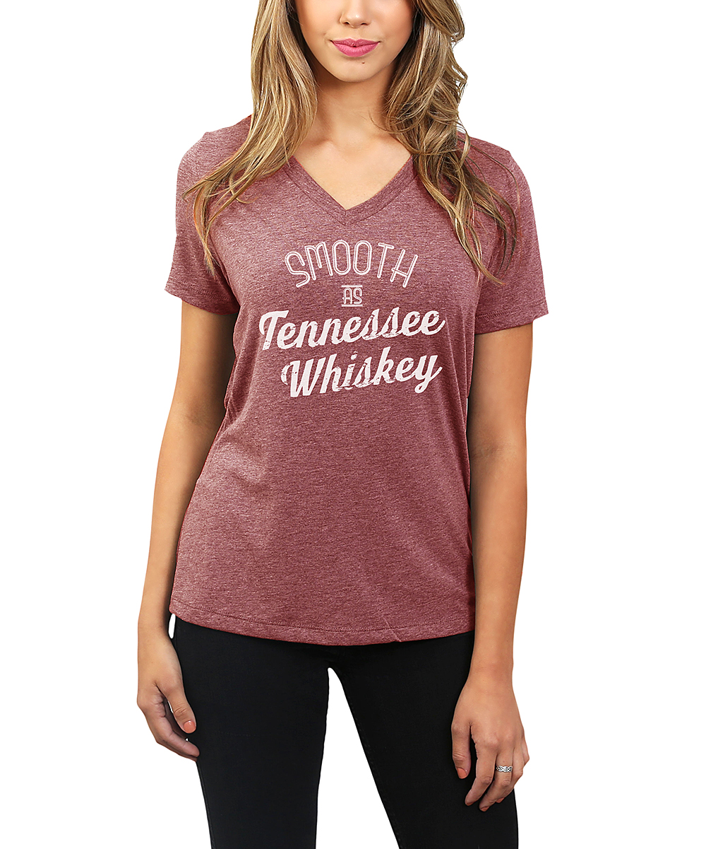 c3bdc9d5b ... Womens Heather Rouge Heather Rouge 'Smooth As Tennessee Whiskey' V-Neck  Tee -