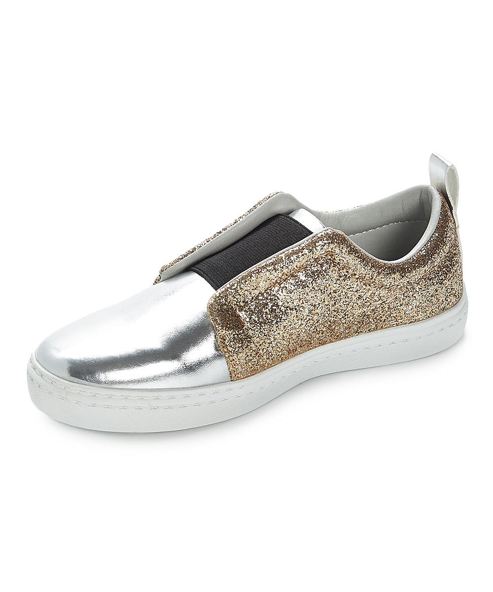 b4dbfc5de1c8 Hoo Family Gold & Silver Chloe Side Star Slip-On Sneaker - Girls ...