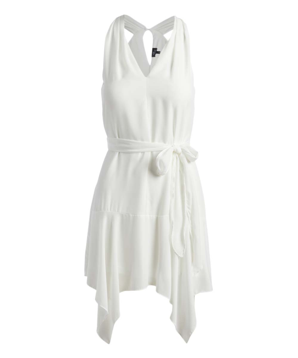 9ec64e65d3a Milk   Honey Off White Sleeveless Handkerchief Dress - Women