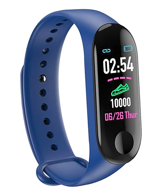 Blue Smart Health Monitor Watch Bracelet Blue Smart Health Monitor Watch Bracelet. This bracelet features a range of settings for the function you need to be easily accessible, from a simple heart pulse check to a sleep and fitness tracker so you can keep all your goals on track.Charge time: 1-2 hoursWaterproof with HD display touch screenBuilt-in USB plugSettings: heart rate pulse, blood pressure, blood oxygen, sleep tracker, fitness trackerAdjustable bandSmart calls and messagesTPU / ip67Imported