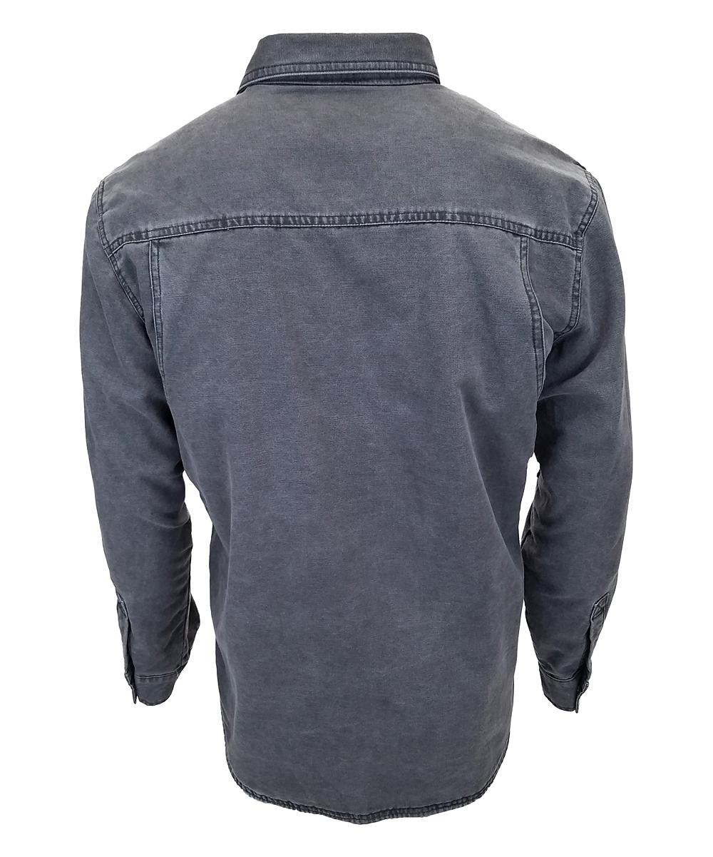 14a0f4a4a Walls Washed Graphite Vintage Bandera Duck Shirt Jacket - Tall