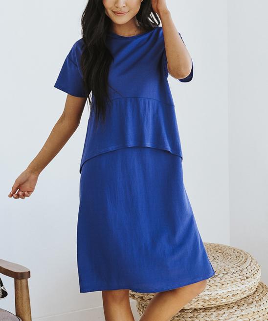 793c78a08a Navy Barley Peplum Dress - Women