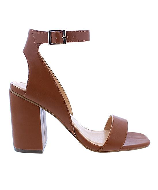 f0c6befa5e Liliana Footwear Tan Block-Heel Breann Sandal - Women | Zulily
