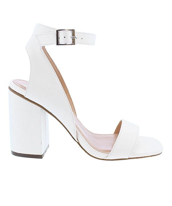f475077e0f Liliana Footwear White Block-Heel Breann Sandal - Women | Zulily