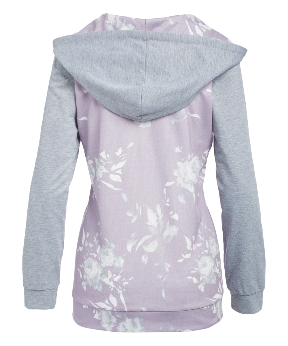 Activewear Special Blend Hoodie Purple Stripes Clothing, Shoes & Accessories