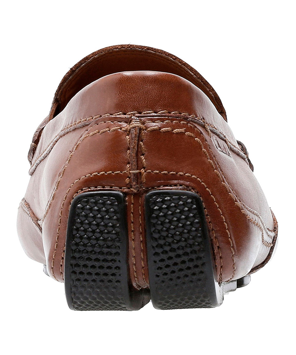 b59cc2bd0e ... Mens Cognac Leather Cognac Ashmont Brace Leather Driver Moccasin -  Alternate Image 5