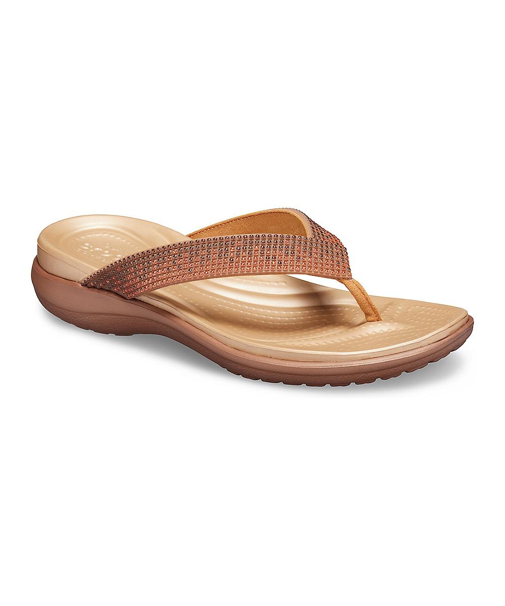 f7dd0d8c5 Crocs Melon Ombré & Bronze Capri V Flip-Flop - Women | Zulily