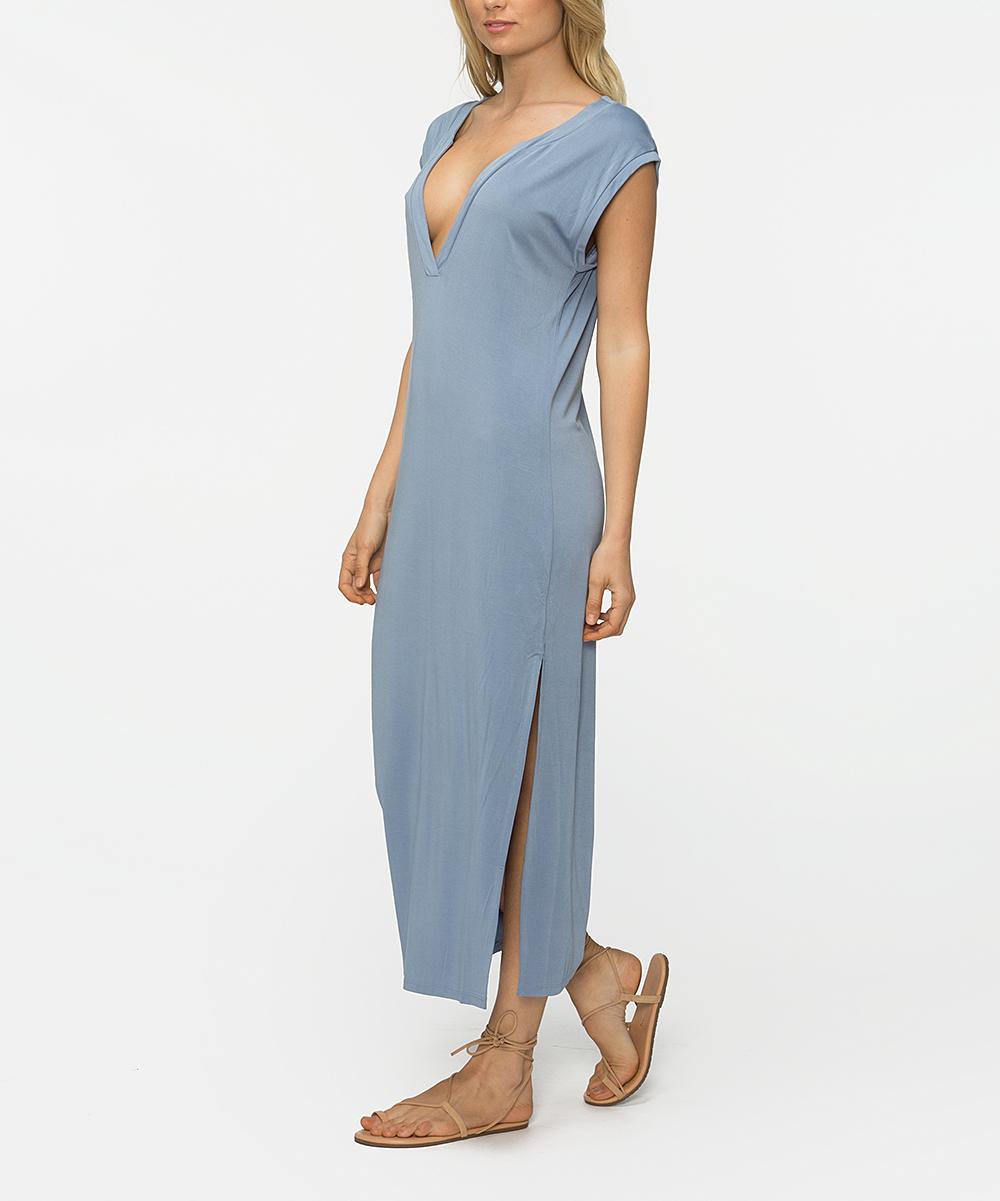 b44fc3cd88d Tavik Infinity Blue Hibiscus Midi Dress - Women