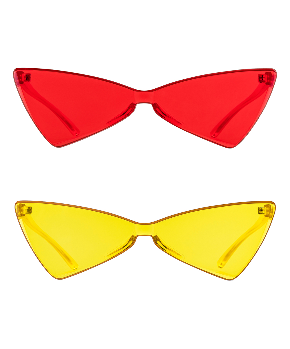 accb53194a148 love this product Red   Yellow Angular Cat-Eye Sunglasses Set