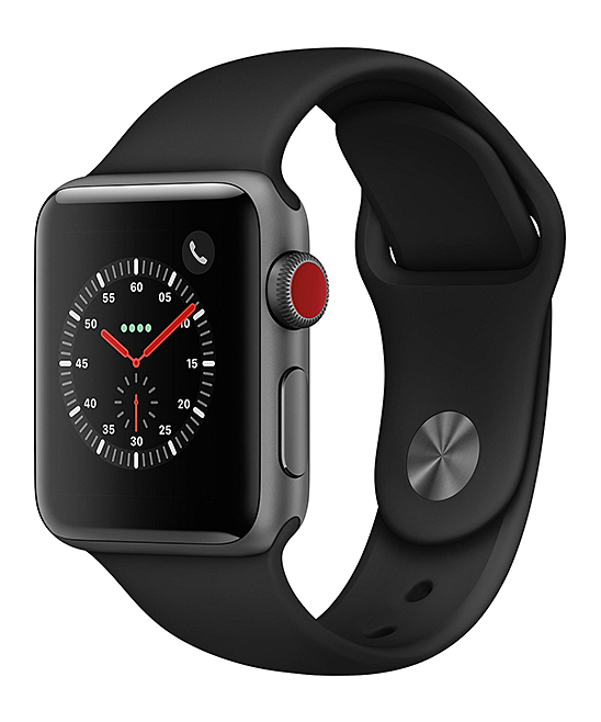 Apple  Smart Watches  - Refurbished Space Gray & Black Sport Band 42mm GPS + Cellular Apple Watch Series 3
