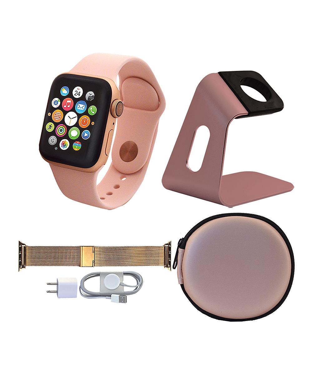 Apple  Smart Watches  - Gold & Pink Sand 40-mm GPS Apple Watch Series 4 Set