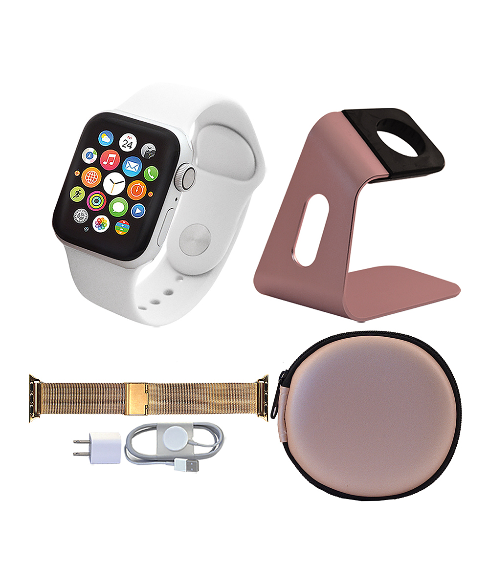 Apple  Smart Watches  - Silver & Rose Gold 44-mm GPS Apple Watch Series 4 Set