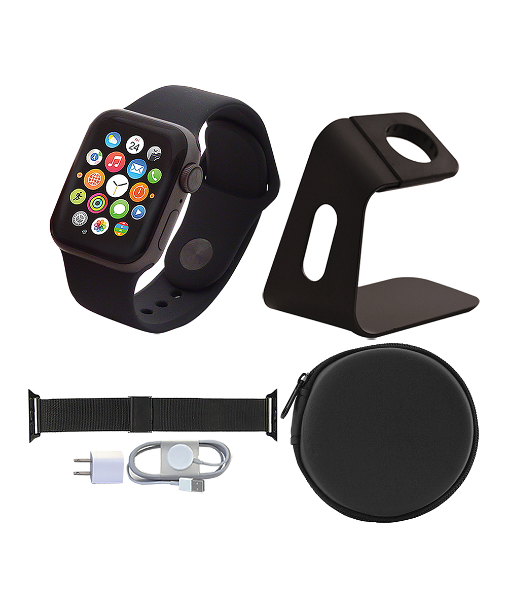 Apple  Smart Watches  - Space Gray & Black 40-mm GPS Apple Watch Series 4 Set