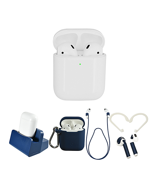 Apple  Headphone Accessories  - White & Blue AirPods Set