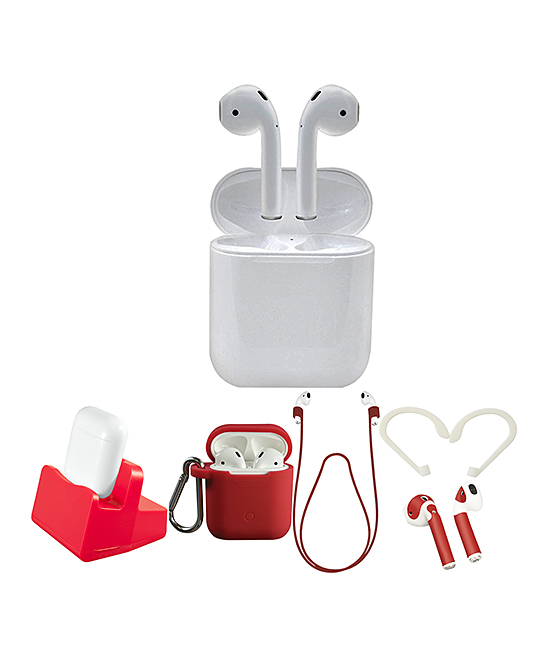 Apple  Headphone Accessories  - White & Red 2nd Gen. AirPods Set