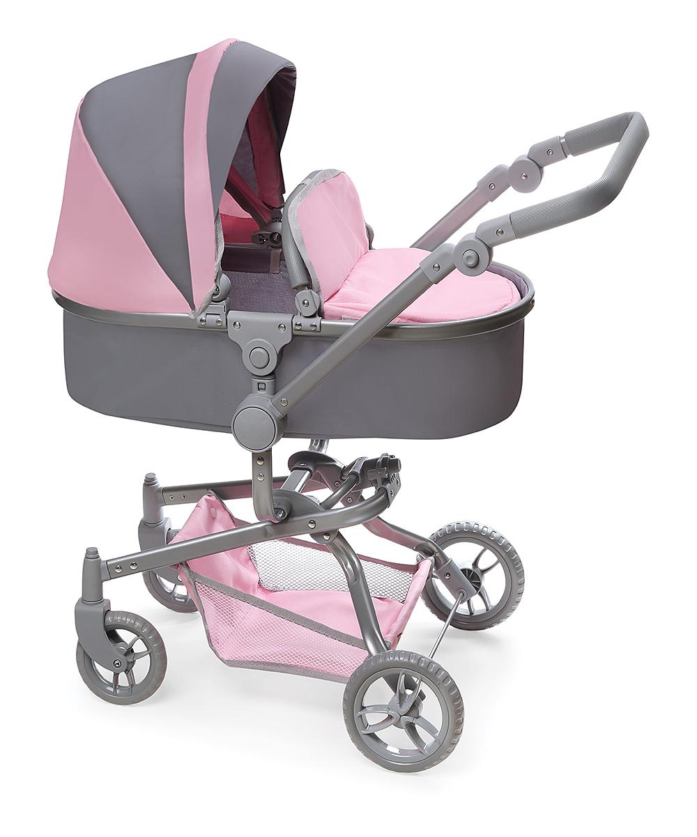 Badger Basket  Doll Accessories Gray/Pink - Gray & Pink Daydream Pram Stroller for 20'' Dolls
