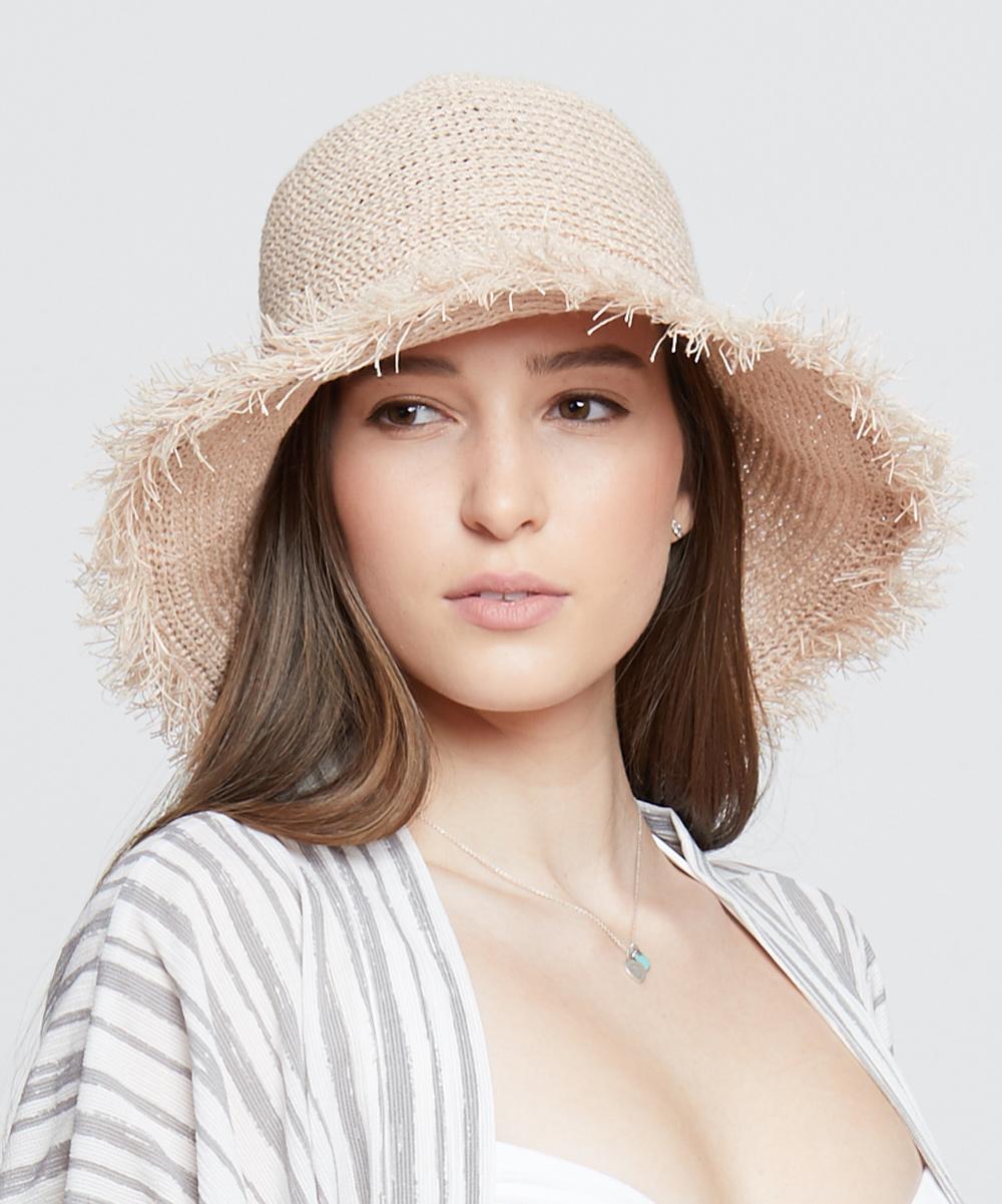 Pink Adjustable Woven Bucket Hat