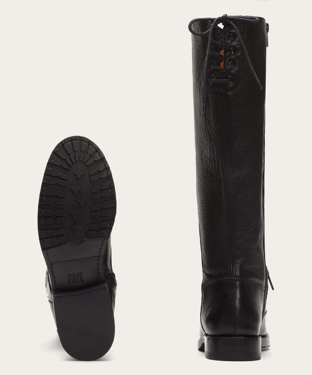 cd8fb125f80 Frye Black Natalie Combat Tall Leather Boot - Women
