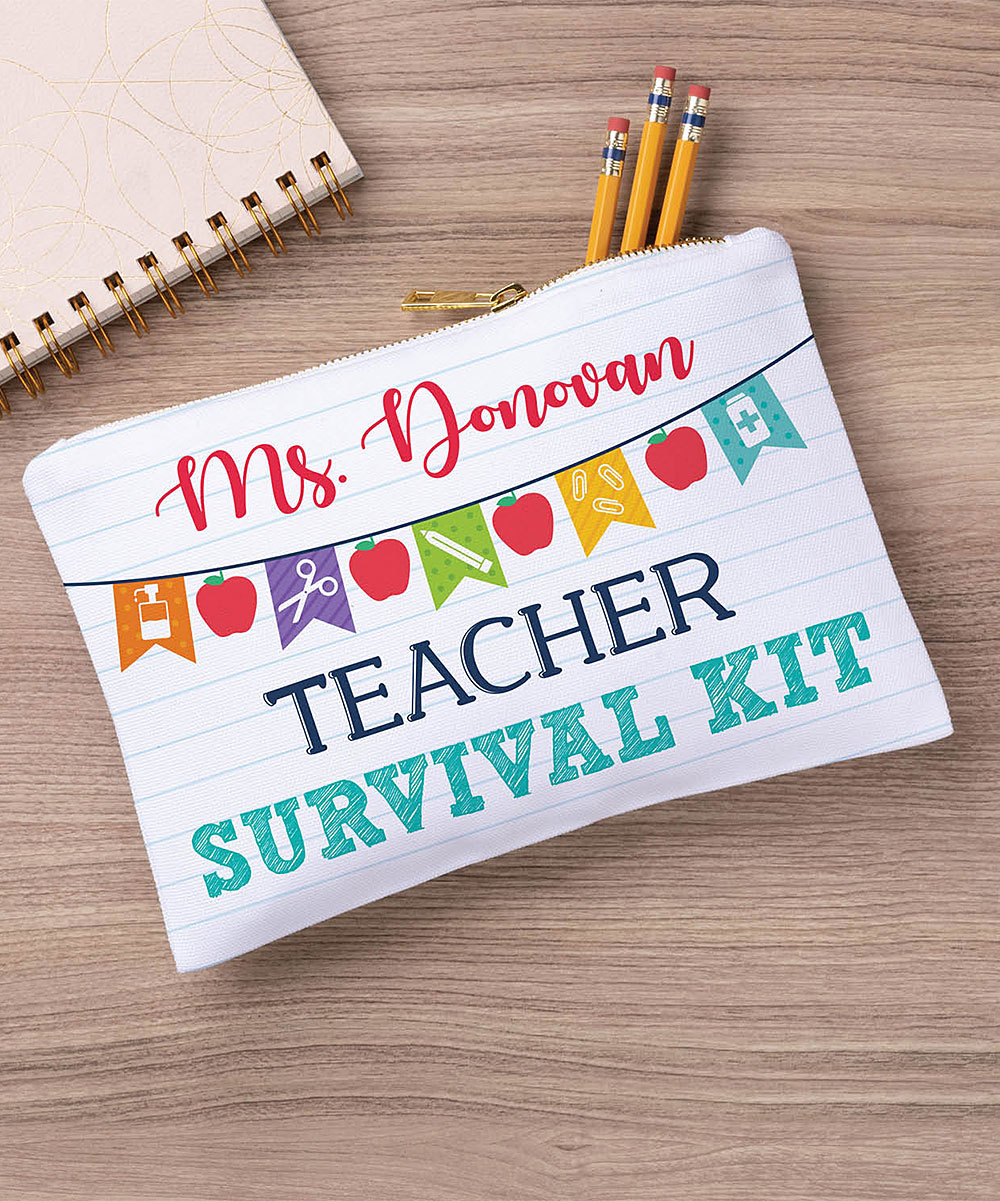 Personalized Planet Teacher Survival Kit Personalized Zipper Pouch