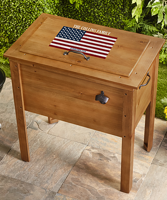 Personal Creations Wood All American Personalized Outdoor Cooler