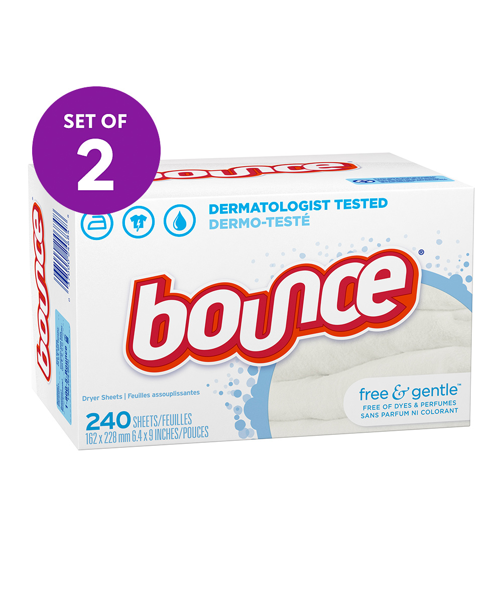 Free & Gentle Dryer Sheets - 2 Boxes of 240 Free & Gentle Dryer Sheets - 2 Boxes of 240. Ensure your laundry stays free from wrinkles and static when you toss in these dryer sheets which feature no scent or dyes to leave your clothes extra fresh. Includes two boxes of 240 dryer sheets (480 dryer sheets total)7.09'' W x 3.46'' H x 4.29'' D