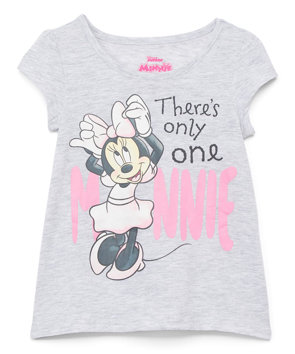 Minnie Mouse Gray 'There's Only One Minnie' Tee - Toddler