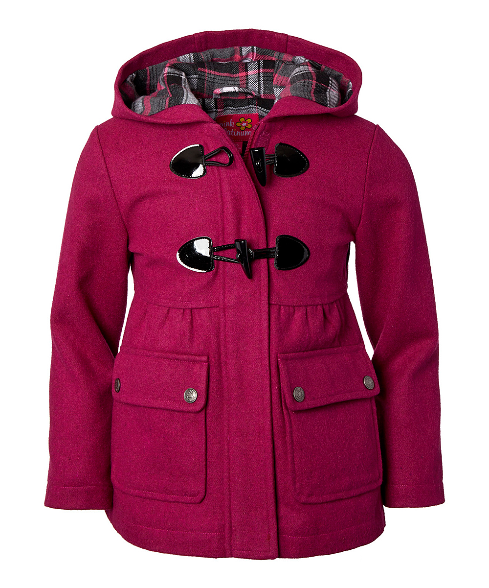 eae0b8d547 Berry Toggle Gathered-Waist Coat - Toddler & Girls