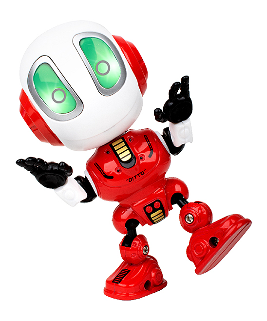 USA Toyz  Remote Control Toys  - Engine Red Glow-In-The-Dark Ditto Talking Robot