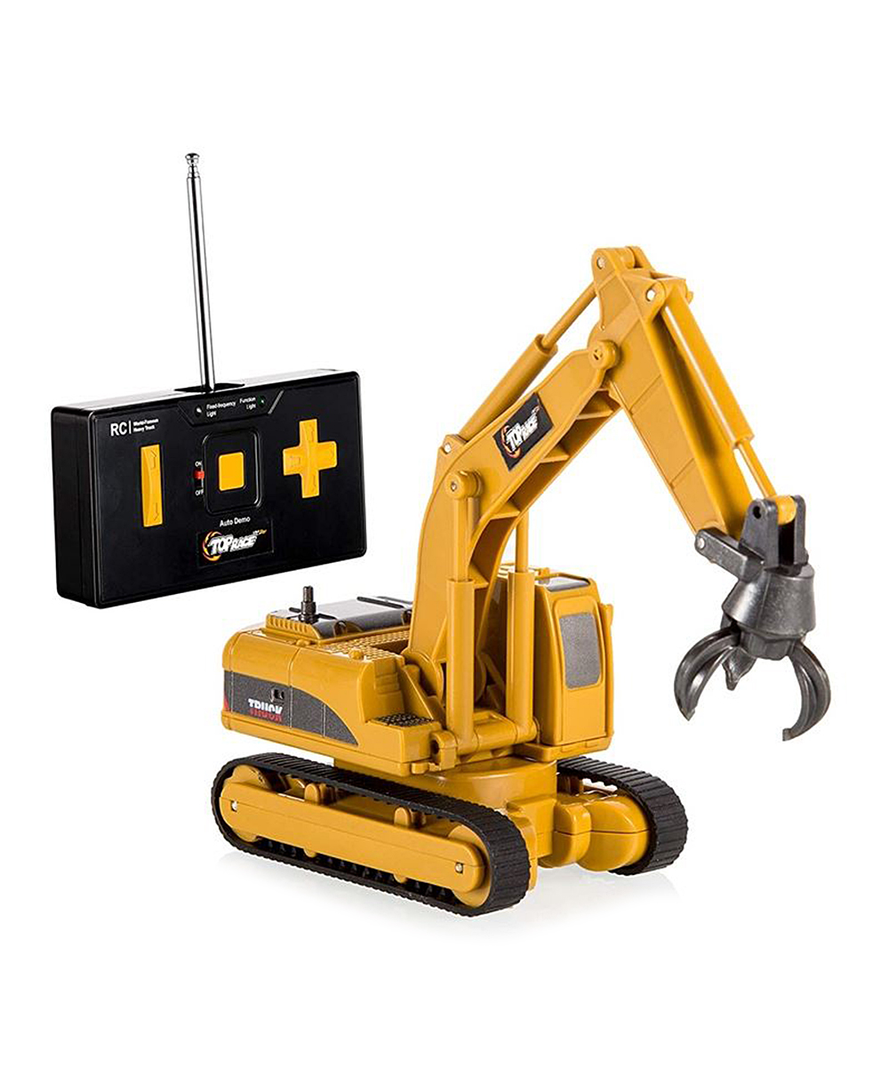 Top Race  Remote Control Toys  - Control-Fork Excavator Four-Channel Remote Control Toy