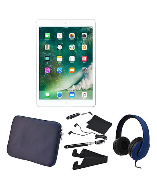 Apple  Tablets Silver - Silver & Blue 128-GB Wi-Fi Apple iPad mini 4 Set