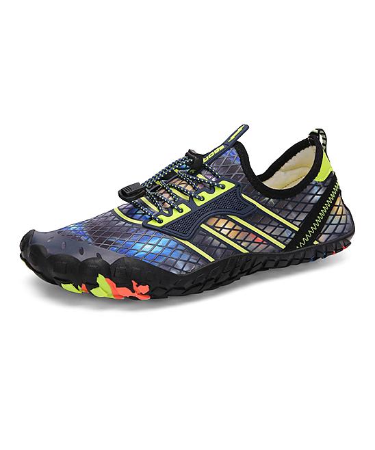 CZ Men's Water shoes Fluorescent - Fluorescent Green Grid Lace-Up Wading Shoe - Men
